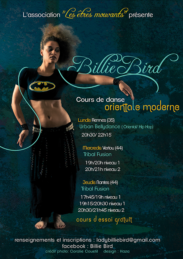 Affiche Cours de danse Orientale Moderne