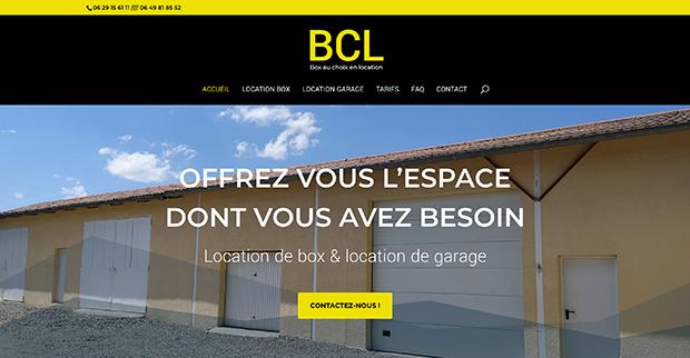 Création du site vitrine BCL - Box au choix en location Palaminy