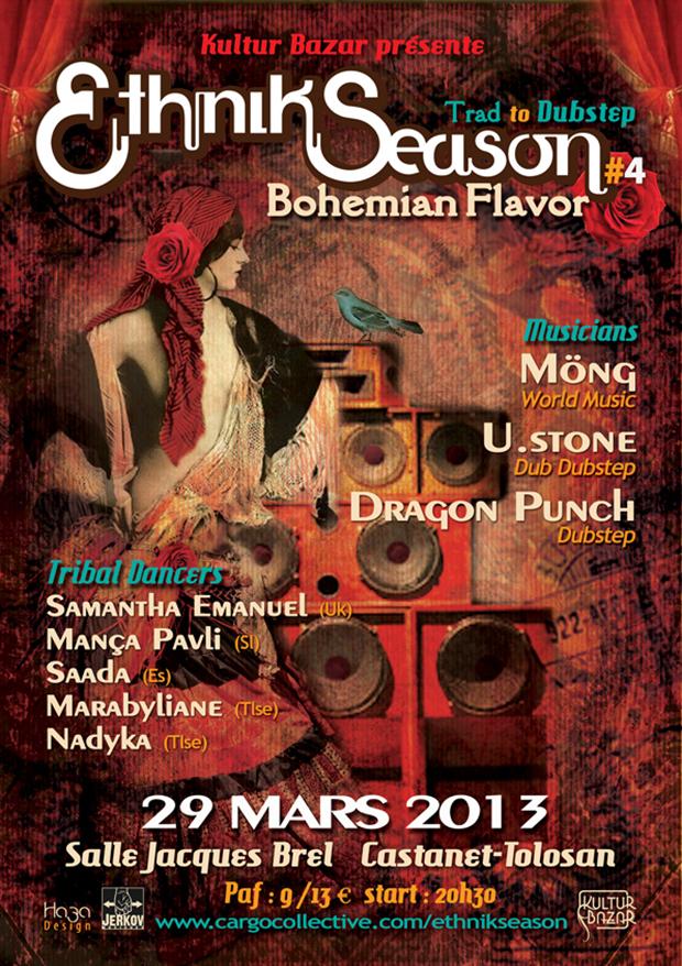 "Affiche Festival Ethnik Season "" Bohemian Flavor """