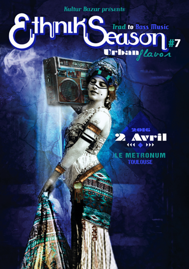 "Affiche Festival Ethnik Season "" Urban Flavor "" au Metronum"