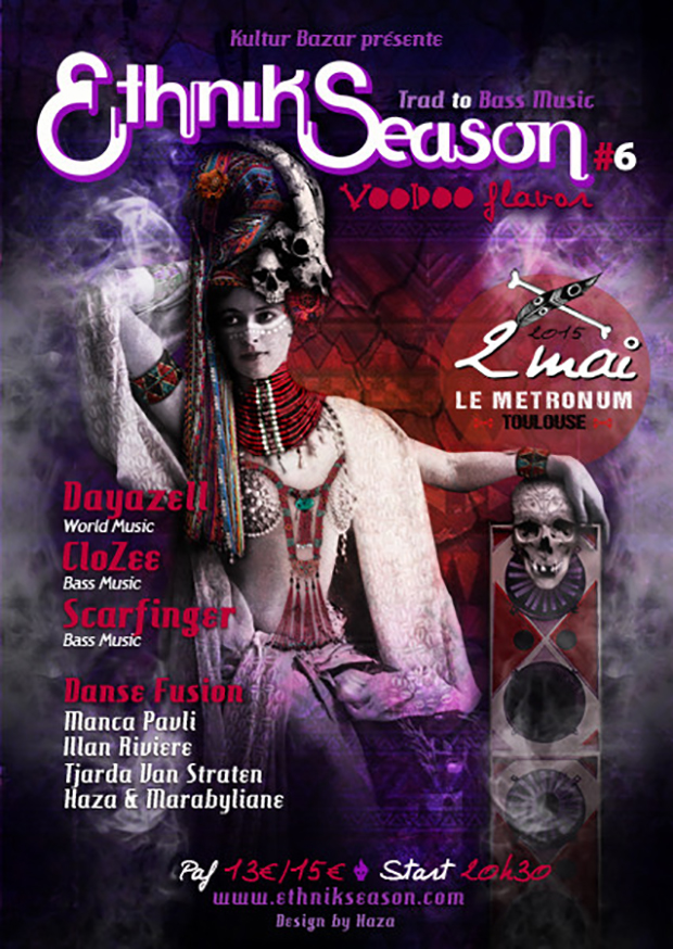 "Affiche Festival Ethnik Season "" Voodoo Flavor "" au Metronum"