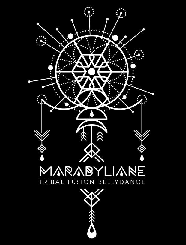 Création de logo Marabyliane, Compagnie de danse Tribal Fusion