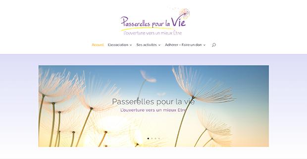 Refonte du site web Association Passerelles pour la vie